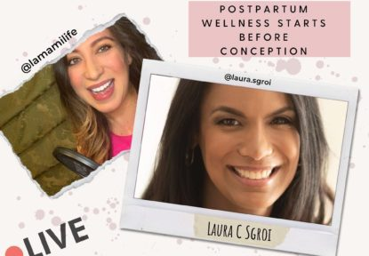 Today: IG Live at 7:30PM ET Postpartum Wellness Starts Before Conception